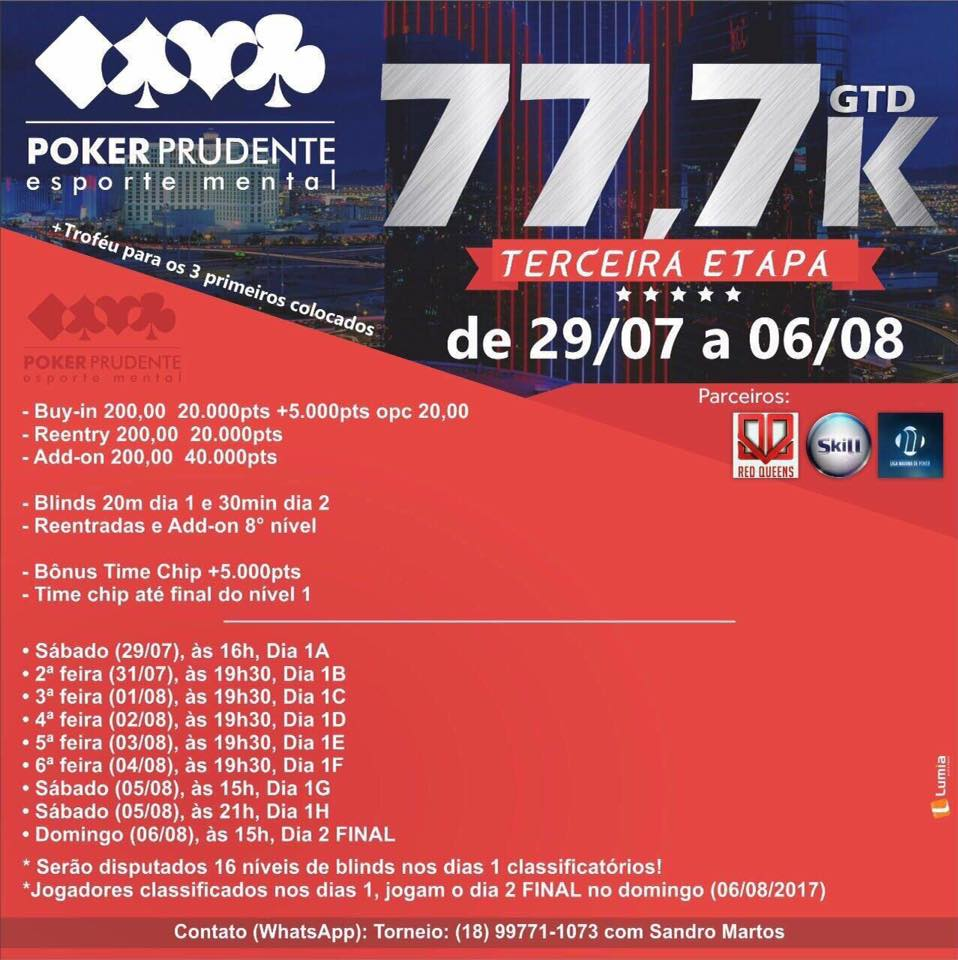 29 July - 6 August - Poker Prudente Esporte Mental